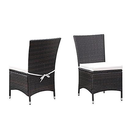 Awe Inspiring Amazon Com Portfolio Aldrich Brown Indoor Outdoor 2 Piece Creativecarmelina Interior Chair Design Creativecarmelinacom