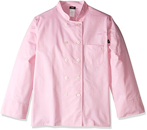Dickies Chef Women's Plus Size Classic Coat, Pink, 4X-Large