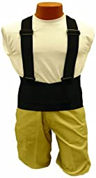 Elk River 40009 Back-EZE Polyester Safety Belt with Suspenders, 6X-Large, Black