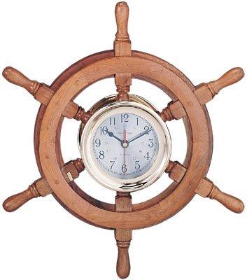 """18"""" Nautical Captain's Ship Wheel Clock"""
