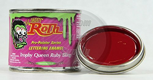 1/4 Pint - Lil' Daddy Roth Pinstriping Enamel - Trophy Queen Ruby Bling