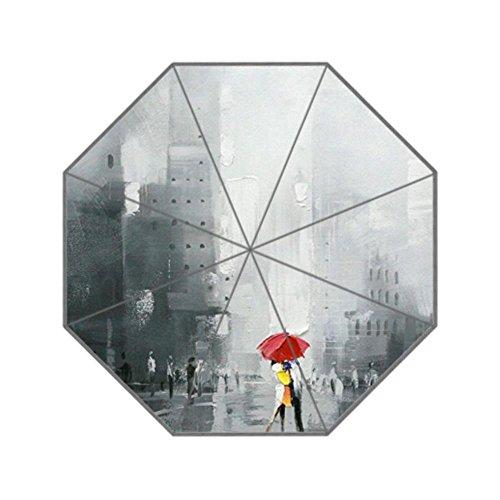 LiFei Business Kissing Couple in Rain UV men's and women's umbrella Custom Umbrella Senior Custom by LiFei Business