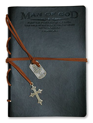 Divinity Boutique Journal, Man of God with Black Cross Charm (22880) (Cross Journal)