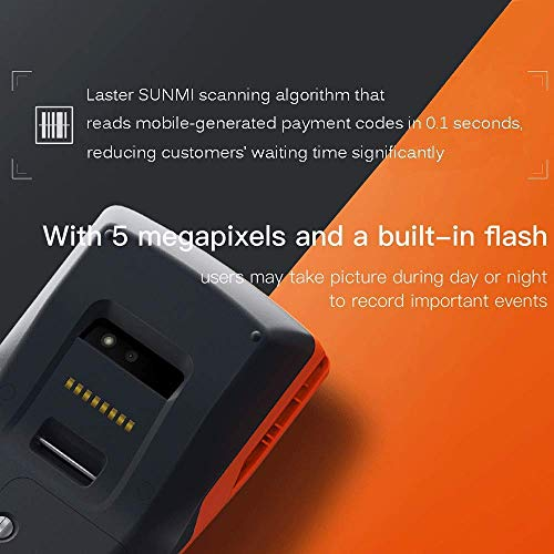 [Update 2.0] Android 6.0 POS Terminal MUNBYN Receipt Printer with 3G WiFi BT and Camera to Read 1D & 2D QR Code Support Loyverse iREAP and CashStock Pos Software for Business Receipt Printing by MUNBYN (Image #4)