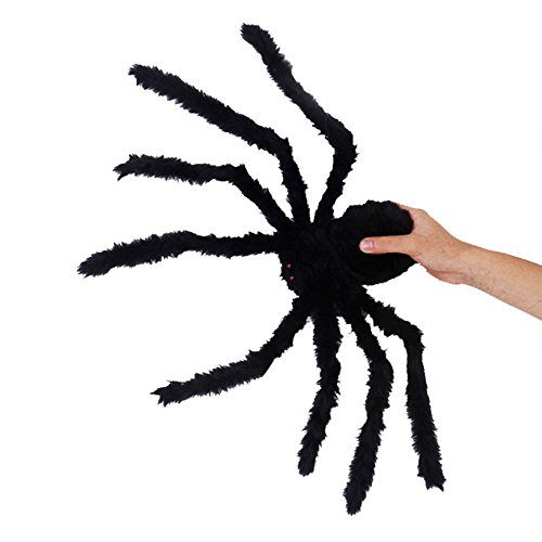 Kerocy 50 CM Giant Spider, Halloween Plush Soft Funny Christmas Holiday Party Decor Black Toy Spiders For (Giant Halloween Animatronics)