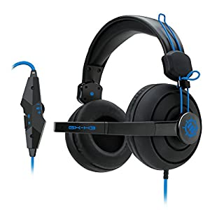 ENHANCE GX-H3 Computer Gaming Headset Microphone & In-Line Controls - Over Ear Design, Plush Earpads & Headband, & 3.5mm AUX - Great for League of Legends , PUBG , & More