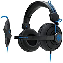 (REFURBISHED) ENHANCE GX-H3 Computer Gaming Headset Microphone & In-Line Controls - Over Ear Design, Plush Earpads & Headband, & 3.5mm AUX - Great for League of Legends , PUBG , & More