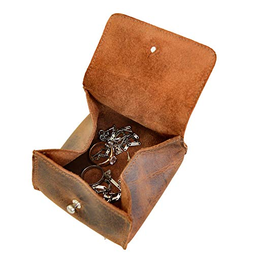 Hide & Drink, Leather Jewelry Pouch/Case/Rings/Organizer/Cash/Wallet, Handmade Includes 101 Year Warranty :: Bourbon Brown from Hide & Drink