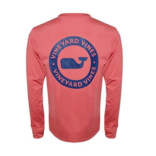 Vineyard Vines Men's Long Sleeve Performance Tee (Whale Dot Jetty Red, ()
