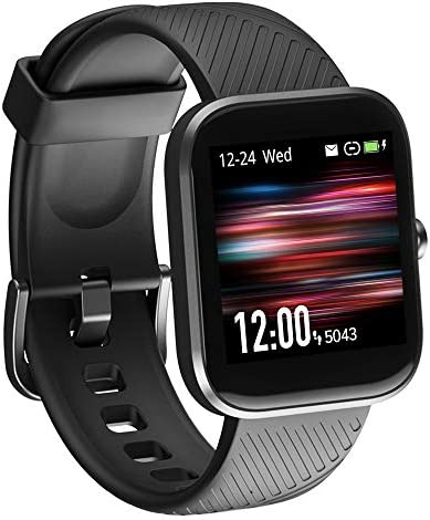 Smart Watch, Virmee VT3 Fitness Tracker with Heart Rate Monitor Blood Oxygen Meter Sleep Tracking Step Counter, IP68 Waterproof Pedometer Smartwatch for Men Women, for iPhone Samsung Android Phones