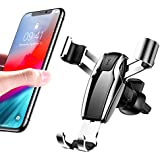 Cell Phone Holder for Car, Ainope Gravity Car Phone Mount Auto-Clamping Air Vent Car Phone Holder Universal Car Phone Mount Compatible iPhone Xs MAX/X/8/7, Galaxy Note 9/S9 Plus/S8/S7- Silver (Divi)