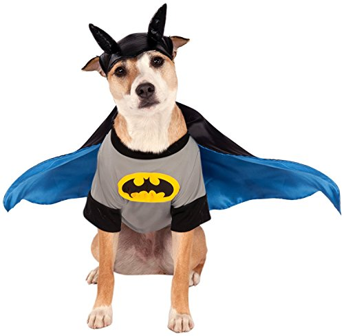Rubies Batman Dog Costume (DC Comics Classic Batman Pet Costume, X-Small)