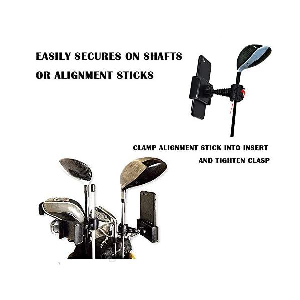 XLHVTERLI-Golf-Phone-Holder-Golf-Swing-RecordAnalyseUniversal-Smartphone-Holder-for-the-Golf-TrolleyGolf-BuggyGolf-CartGPS-HolderSuitable-for-all-SmartphonesGolf-gifts-for-men