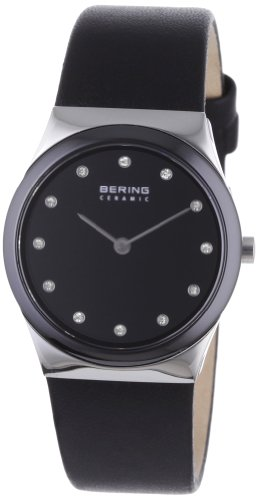 BERING Time 32230-442 Womens Ceramic Collection Watch with Calfskin Band and Scratch Resistant Sapphire Crystal. Designed in ()