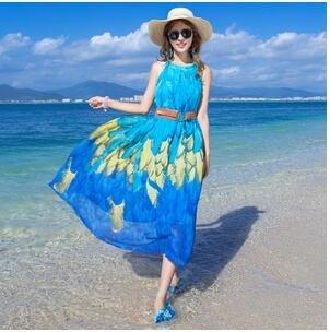 La Bohemia de playa vacaciones de playa vestido de falda falda ...