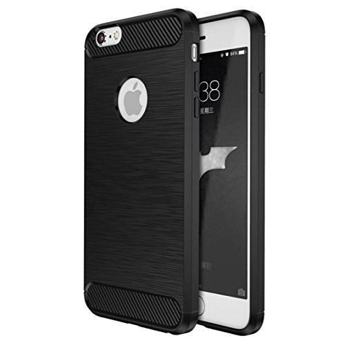 Custodia iPhone SE / 5 / 5S Nero , ivencase Lusso Cover Schlank TPU Silicone Case Custodia Shock-Absorption Bumper e Anti-Scratch Back per iPhone 5 / 5S / SE