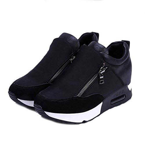 Herbst Damen black Sportschuhe Sommer Mode lässig Plattform und Schuhe wXSqAprX