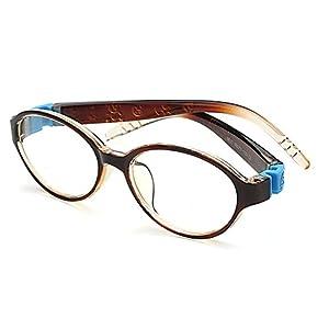 Fantia Children Oval Frame Kids Toddler Flexiable Eyeglass (B)