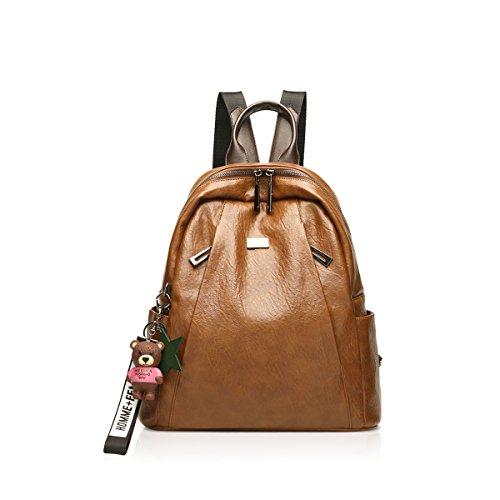 Di amp; Ornamenti nero Nuove Nicole Casuali Orso Retrò Brown Premium Pelle Modo Da Viaggio Doris A In Borsa Donne 2018 P6Td6z