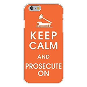 Apple iPhone 6+ (Plus) Custom Case White Plastic Snap On - Keep Calm and Prosecute On w/ Courtroom Gavel