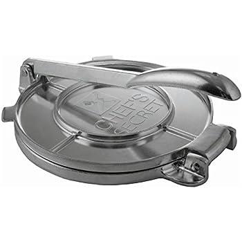 """Amazon.com: Chef's Secret 8"""" Tortilla Aluminium Press"""