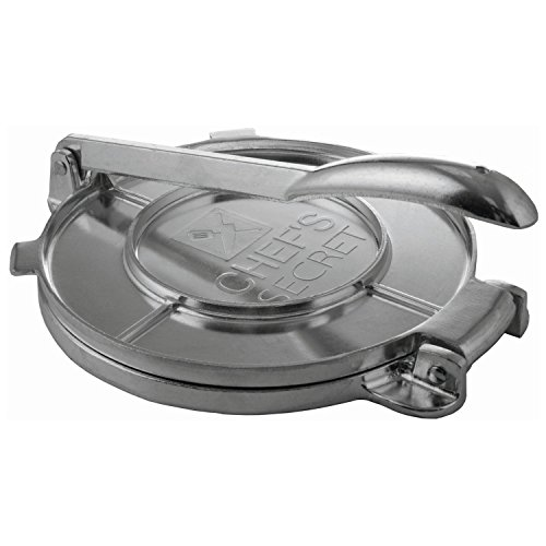Chef's Secret 8 Inch Tortilla Aluminium Press, Durable Tortilla Quickly Easily Makes Delicious Tortillas for Any Recipe