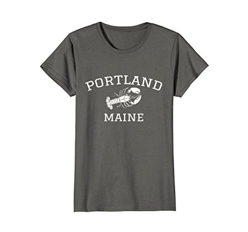 ne Lobster T-Shirt Medium Asphalt (Lobster Portland Maine)