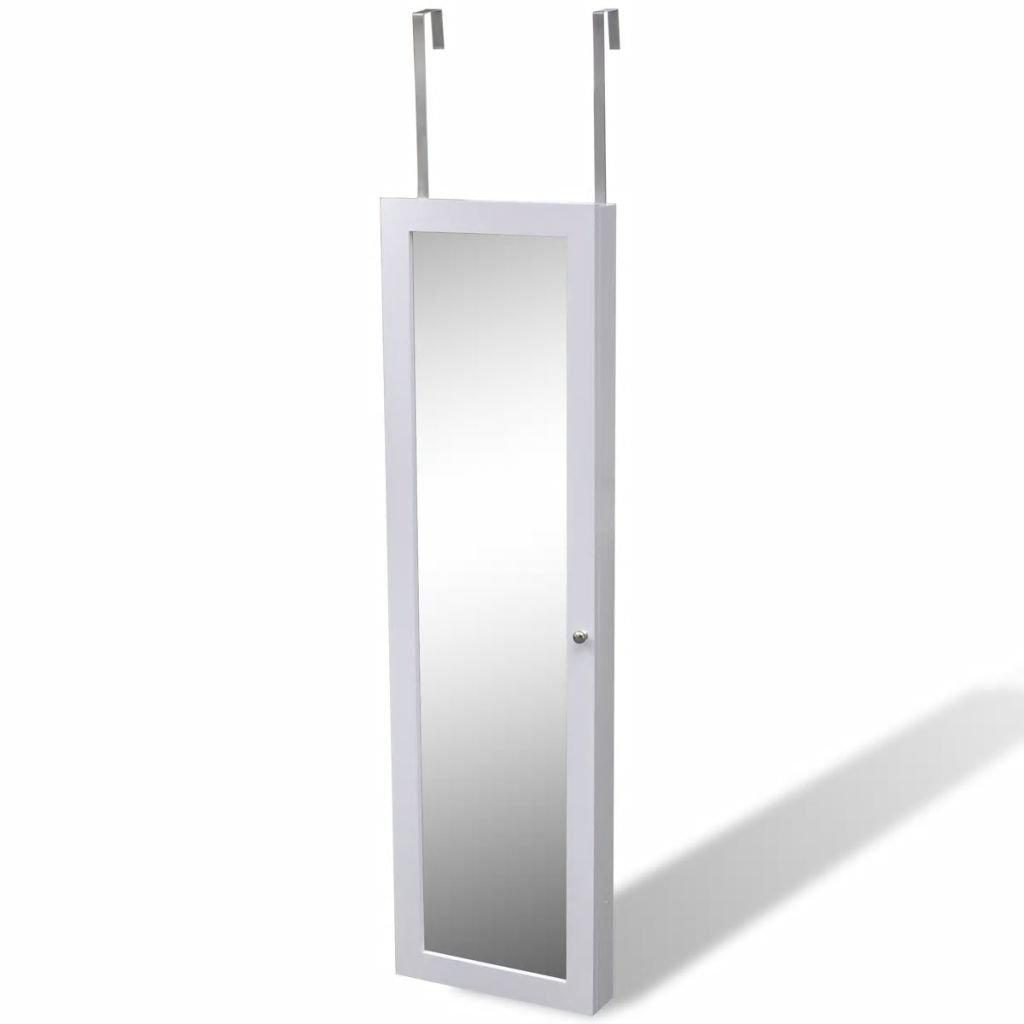 Amazon.com: SKB - Armario de pared con espejo y 2 colgadores ...