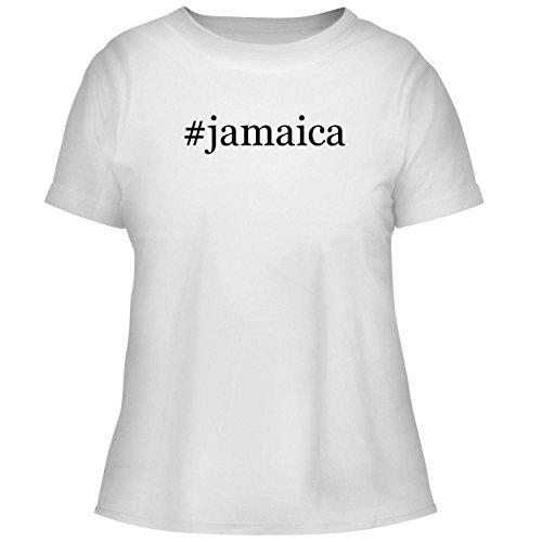 BH Cool Designs #Jamaica - Cute Women's Graphic Tee, White, X-Large