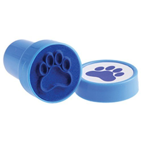 Paw Print Stampers-Blue/6 Pc (Blue Paw Print)