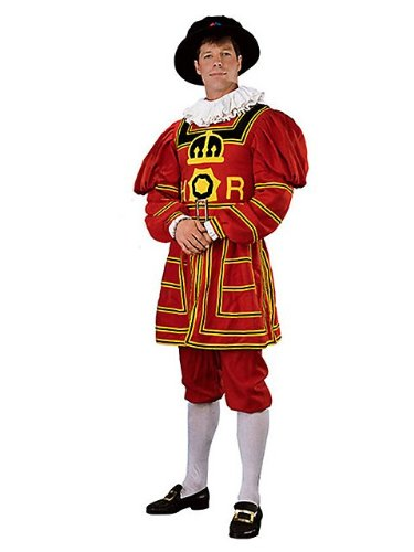 [Rubie's Costume DLX Beefeater Costume, Red Large] (Beefeater Costumes)