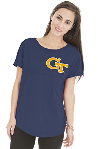 NCAA Georgia Tech Yellow Jackets Women's Callie Short Sleeve Football (Georgia Tech Lady Jackets)