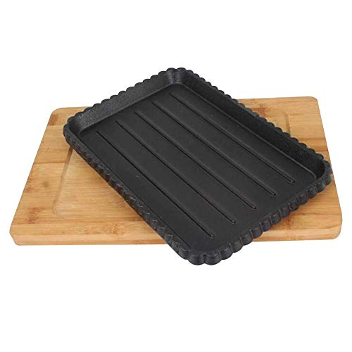 DUDDP Kitchen Cast Iron Reversible Griddle Pan With Non-Stick Coating For Gas, Induction Electric Hobs Healthy Low Fat Cooking Camping Cooking On The Hob