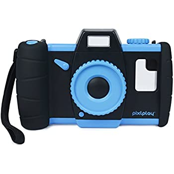 Pixlplay Camera (Blue) - Turn Your Smartphone Into a Fun Kids' Camera