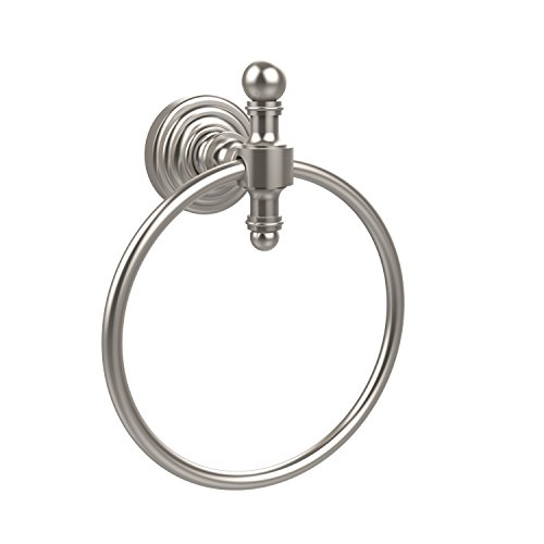 Allied Brass RW-16-SN Retro Wave Collection Towel Ring Satin Nickel ()