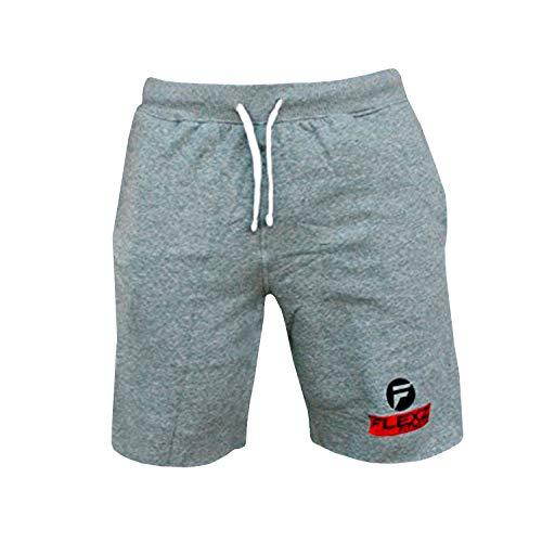 Flexz Fitness Gym Shorts SweatShorts   Bodybuilding Pants Joggers Gym Pants Gym Sweat Gray Large