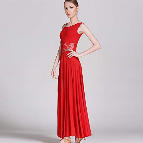 Per Competizione Da Ballo Red Diamante Gonna Delle Donne LRR Ballo Con Da Moderno Abito Vestito Con La aqYnOPHw