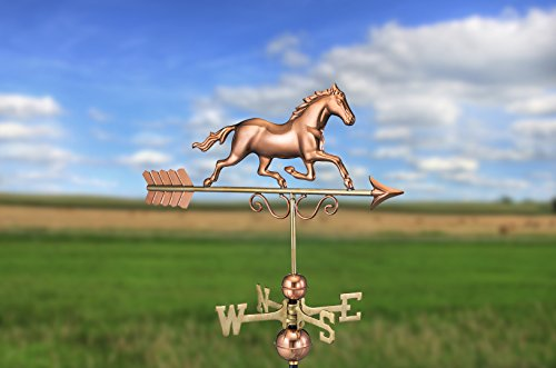 Good Directions Galloping Horse Weathervane, Pure Copper by Good Directions (Image #1)