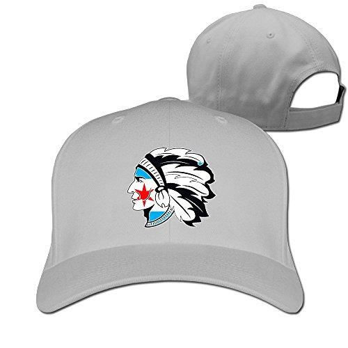 Bandera de Chicago indio negro alas de plumas sarga de algodón béisbol sombrero