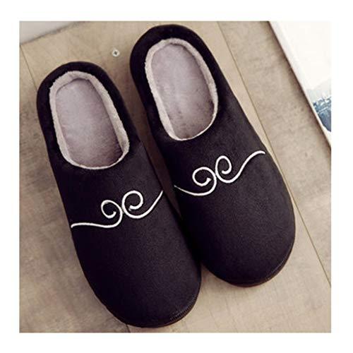 Colore Donna Nero Gray Invernali Pantofole Laosunjia Cotone 41 qPwx5HTXX
