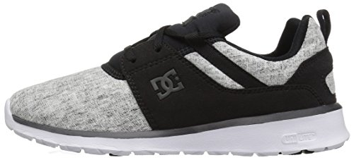 DC Women's Heathrow SE Skateboarding Shoe, Black/Charcoal, 5 B US