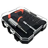 RAK Universal Socket 25Pc Tool Set with Multi-Function Ratchet Driver, Power Drill Adapter, 20 Bits - Best Unique Christmas Tool Gift for DIY Handyman, Father/Dad, Husband, Boyfriend, Men/Women