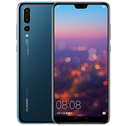 "Huawei P20 Pro CLT-AL00 - Dual SIM [Android 8.1, 6.1"" AMOLED, Triple 40.0MP+20.0MP+8.0MP, 6GB RAM, Kirin 970] (Midnight Blue, 128GB)"