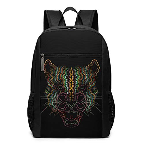 - JUSTFORU Shop Personality Line Leopard Head Water Resistant Bookbag,Casual Unisex Rucksack for Travel Outdoor Camping,Fits Laptop/Notebook for Men and Women.