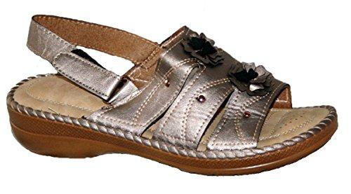 DY55 - Zapatos con correa de tobillo mujer Plateado - Silver Grey slingback
