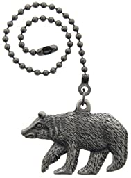 Lazart® Bear Pewter Pull Chain for Ceiling Fans, Lamps & Lighting