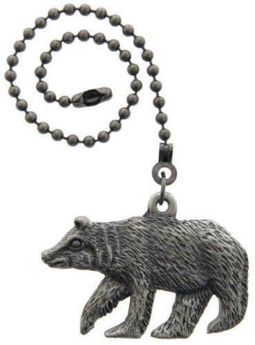 Lazart® Bear Pewter Pull Chain for Ceiling Fans, Lamps & Lighting from Lazart