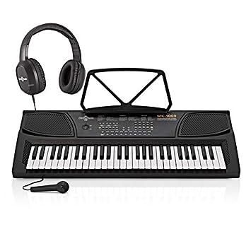 Teclado Portátil MK-1000 de 54 Teclas de Gear4music + Paquete de Accesorios