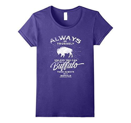 rself Be A Buffalo T-Shirt Bison Spirit Animal Medium Purple (Purple Buffalo)