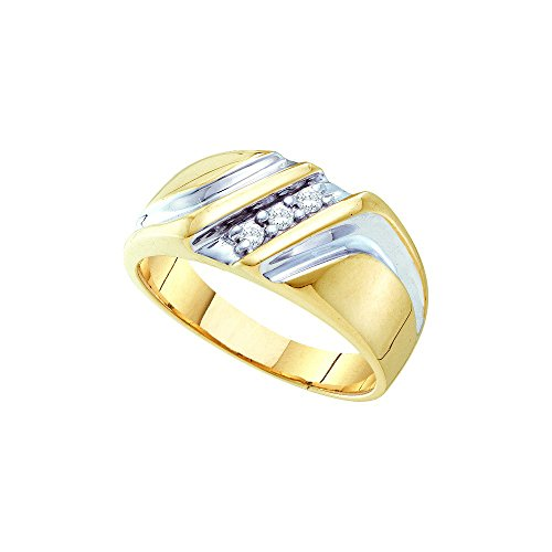10kt Yellow Two-tone Gold Mens